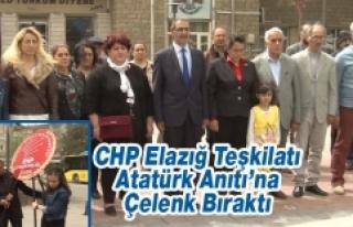 CHP Elazığ Teşkilatı, Atatürk Anıtı'na Çelenk...