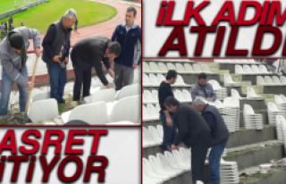 Elazığ Atatürk Stadyumunda Yenileme Çalışmaları...