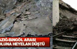 Elazığ'da Heyelan