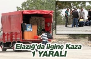 Elazığ'da İlginç Kaza, 1 Yaralı