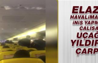 Elazığ Havalimanına İniş Yapmaya Çalışan Uçağa...