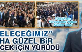 TÜGVA'dan 'Türkiye İçin Evet' Yürüyüşü
