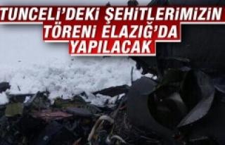Tunceli'deki Şehitlerimizin Töreni Elazığ'da...