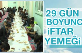 Bölge Camisinde İftar Yemeği
