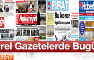 Bugünkü Elazığ'ın Yerel Gazetelerine Ait...