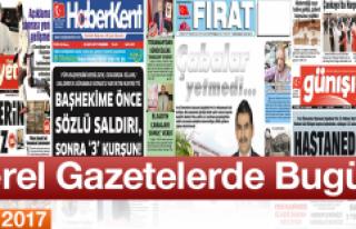 Elazığ'ın Yerel Gazete Manşetlerinde Bugün...