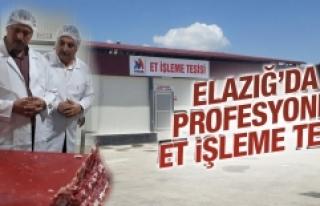 Elazığ'da Profesyonel Et İşleme Tesisi