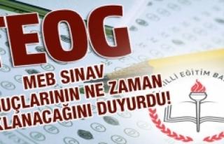 TEOG Sınav Sonuçlarının Açıklanacağı Tarih...