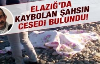 Elazığ'da Kaybolan Şahsın Cesedi Bulundu!