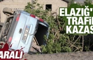 Elazığ'da Trafik Kazası 1 Kişi Yaralı