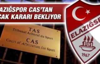 Elazığspor CAS'tan Çıkacak Kararı Bekliyor