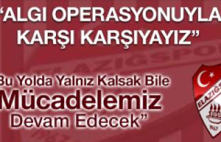 Elazığspor'dan Beklenen Açıklama Geldi