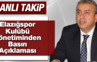 Elazığspor Kulübü'nden Basın Açıklaması