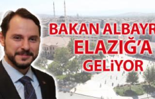 Enerji ve Tabii Kaynaklar Bakanı Berat Albayrak Elazığ'a...