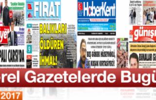 İşte Bugünkü Elazığ'ın Yerel Gazete Manşetleri