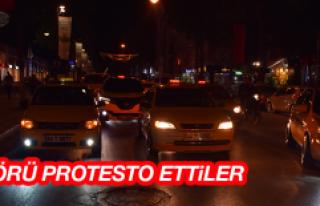 Taksicilerden Terör Protestosu