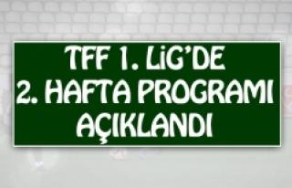 TFF 1.Lig'de 2.Hafta Programı Açıklandı