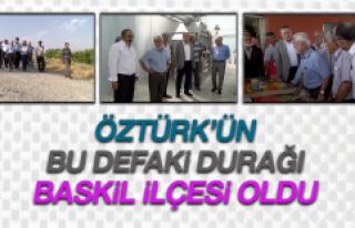 Milletvekili Öztürk, Baskil'i Gezdi