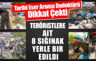 Teröristlere Ait 8 Sığınak Yerle Bir Edildi
