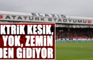 Atatürk Stadyumunda Sulama Yapılamadığı İçin...