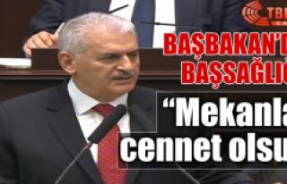 Başbakan'dan, AK Parti Elazığ Teşkilatına Başsağlığı