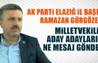 Başkan Gürgöze'den Milletvekili Aday Adaylarına...