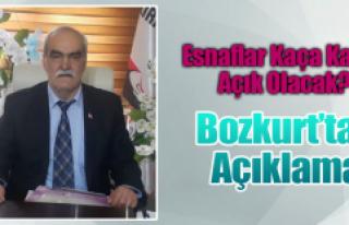 Bozkurt'tan Açıklama