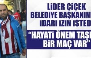 """Çiçek: """"Belediye Çalışanları Tarsus Maçında..."""