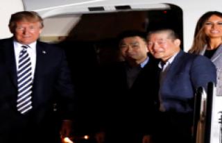 Kuzey Kore'nin Serbest Bıraktığı Üç Amerikalıyı...