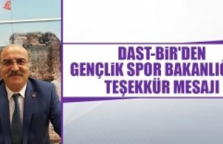 DAST-BİR'den Gençlik Spor Bakanlığı'na...