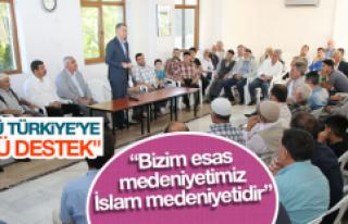 """""""Güçlü Türkiye'ye güçlü destek"""""""