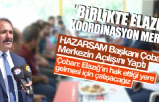 HAZARSAM Başkanı Çoban, Merkezin Açılışını...