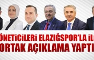 İl Yöneticilerinden Elazığspor'la İlgili...
