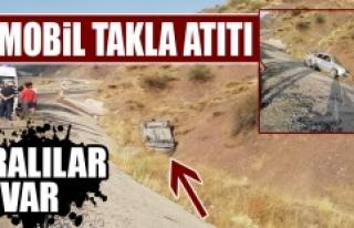 Malatya'da Araba Takla Attı