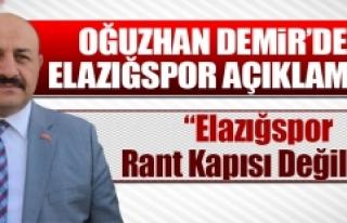 Oğuzhan Demir'den Elazığspor Açıklaması