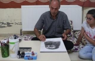 Savaş Mağduru Ressam, Suriyeli Çocuklar İçin...