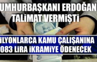 1083 Lira İkramiye Ödenecek
