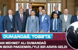 Başkan Dumandağ Bakan Pakdemirli'yle Bir Araya...