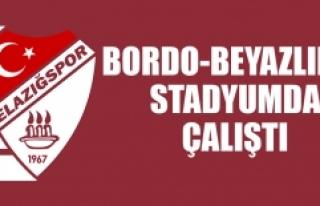 Bordo-Beyazlılar Stadyumda Çalıştı