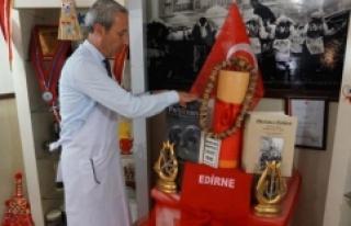 """Edirne'de ciğerci dükkanını """"müzeye""""..."""