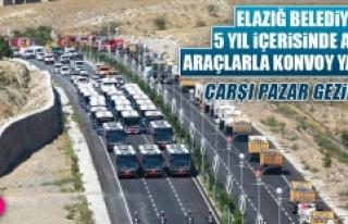 Elazığ Belediyesi'ne Alınan Araçlarla Konvoy...