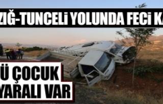 Elazığ-Tunceli Yolunda Feci Trafik Kazası
