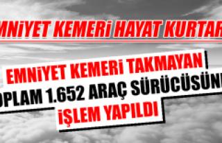 EMNİYET KEMERİ HAYAT KURTARIR!