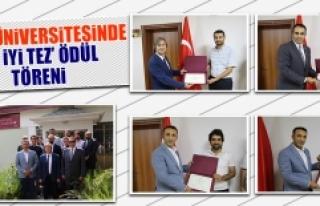 Fırat Üniversitesinde En İyi Tez Ödül Töreni