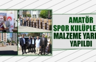 İl Özel İdaresi Tarafından Kulüplere Spor Malzemeleri...