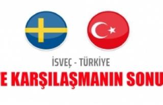 İsveç Türkiye Milli Maçı Sonucu