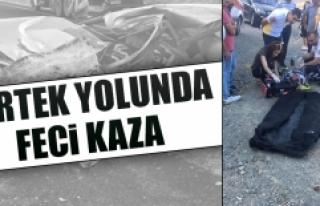 Pertek Yolunda Feci Kaza