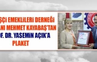 Prof. Dr. Açık'a Tüm İşçi Emeklileri Derneği'nden...