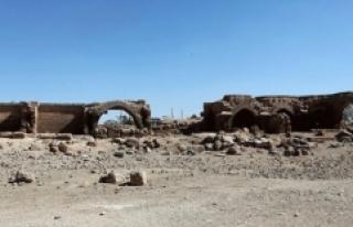 Şanlıurfa'daki Han el-Barur Kervansarayı'nda...