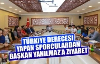 Türkiye Derecesi Yapan Sporculardan Başkan Yanılmaz'a...